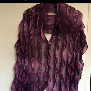 elegant silk  Purple Scarf